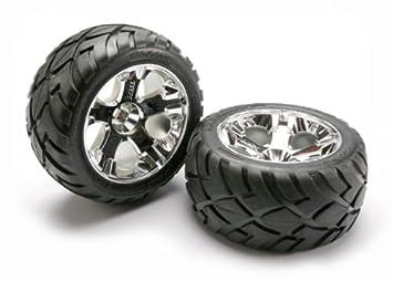 Traxxas 5576R - Pieza de neumático y Rueda para Coche, Cromado, 17 mm: Amazon.es: Juguetes y juegos