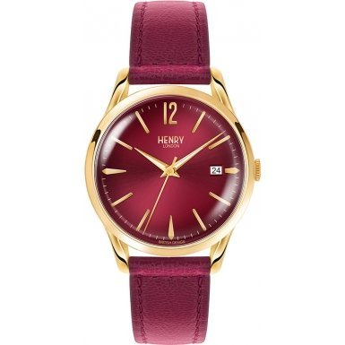 Henry London - Holborn - Reloj - Burgundy (Reacondicionado Certificado)