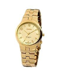 Time100 Men's Casual Seiko Watch Golden Quartz Couple Watch #W50005G (gold)