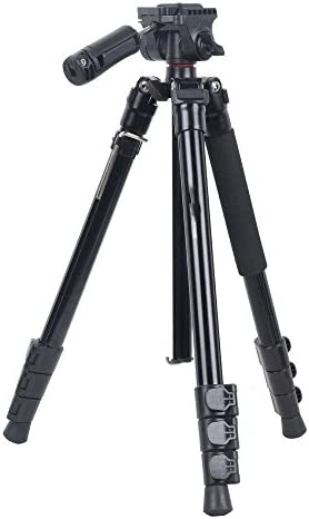 LLluckyHW Retractable Gimbal Camera Tripod and monopod Aluminum Alloy wear-Resistant Tripod and monopod Color : Black with a Maximum Load of 8KG