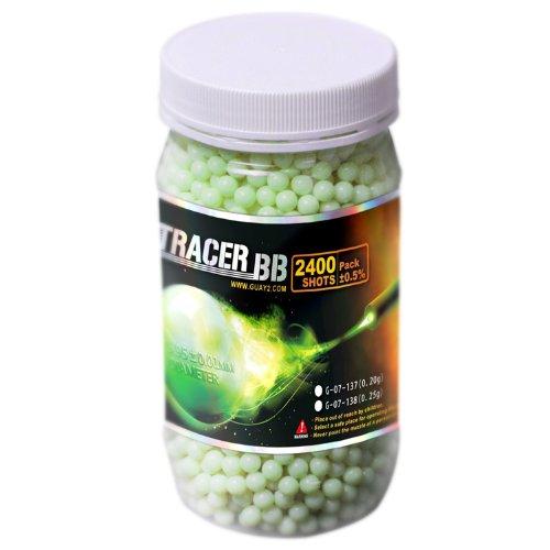 G&G Green Tracer Airsoft Ammo Glow in the Dark BBs - 2400 Round Jar - .25 gram ()
