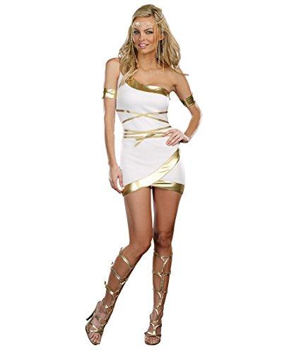 [Dreamgirl A8925 Worship Me Goddess Costume - X-Large - White/Gold] (Roman Goddess Xlarge Costumes)