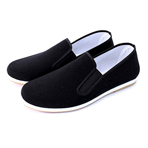 Andux Martial Art Kung Fu Tai Chi Shoes Dichotomanthes Sole Old Beijing Clothes Unisex Shoes TJX-01 Black (40 250mm)