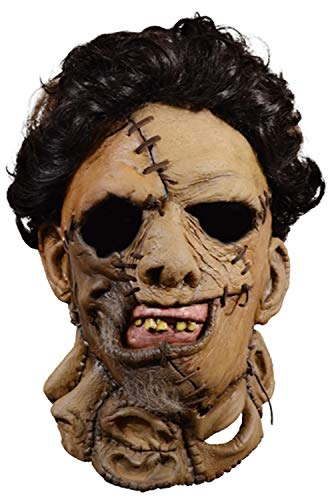 Trick Or Treat Studios Texas Chainsaw Massacre 2 Deluxe Leather Face Mask Standard ()