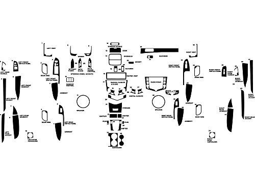 Rdash Dash Kit Decal Trim for Honda Accord 2003-2007 - Carbon Fiber 4D (Silver) (Honda Accord Oem Carbon Fiber)