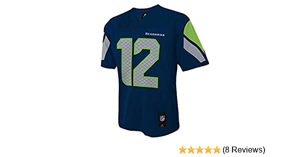 96965a4dc8c Amazon.com   Outerstuff Seattle Seahawks Youth 12th Man Navy Jersey    Sports   Outdoors