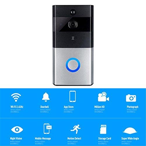 Price comparison product image Wireless WiFi Doorbell Kit Video Camera Door Phone Ring Intercom Home Security.
