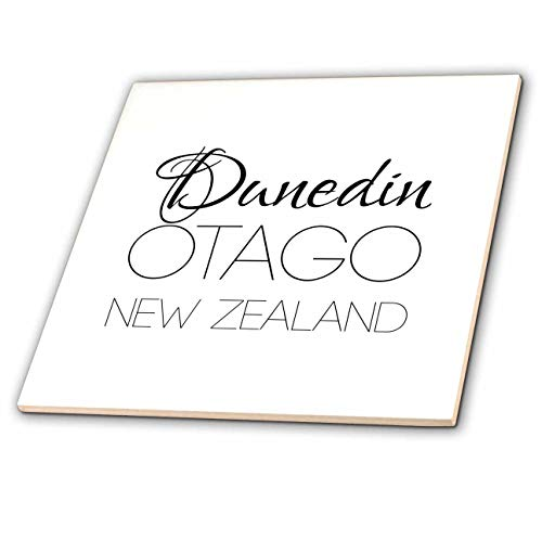 3dRose Alexis Design - New Zealand Cities - Dunedin, Otago, New Zealand. Patriot, Region, Home Town Design - 8 Inch Glass Tile (ct_308550_7) ()