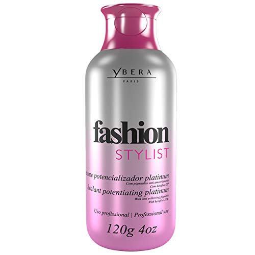Ybera Keratin Hair Straightening Treatment Fashion Stylist Platinum | Smooth System | Extreme Shining Hair | Formulated for Blond, Bleached Hair | Enhanced with Omega | 4 FL Oz (Keratin Treatment For Black Hair Without Formaldehyde)