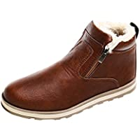 Tootu Men Winter Warm Boots Casual Shoes Fashion Plush Snow Boots