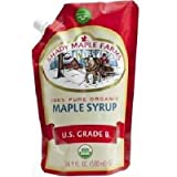 Shady Maple Farms Smartsak Pure Organic US Grade B Maple Syrup, 16.9 Fluid Ounce -- 6 per case.