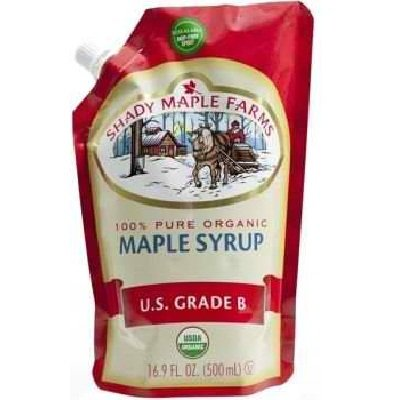 Shady Maple Farms Smartsak Pure Organic US Grade B Maple Syrup, 16.9 Fluid Ounce - 6 per case.
