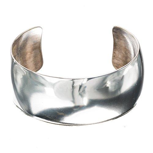 TSKIES Genuine Navajo Handmade Mirror Sterling Silver .925 High Polish Cuff Bracelet Native American Jewelry (Large) by Turquoise Skies