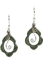 Jody Coyote Earrings SMC116-01 Eden Collection silver green dangle
