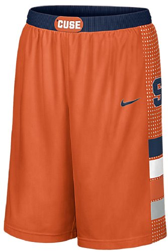 Syracuse Orange 12 Inch Inseam Orange 2013 Embroidered Player Basketball Shorts By Nike  Small