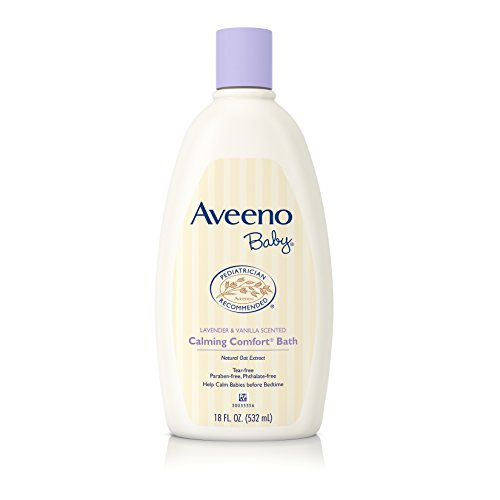 Large Product Image of Aveeno Baby Calming Comfort Bath with Lavender & Vanilla, Hypoallergenic & Tear-Free, 18 fl. oz