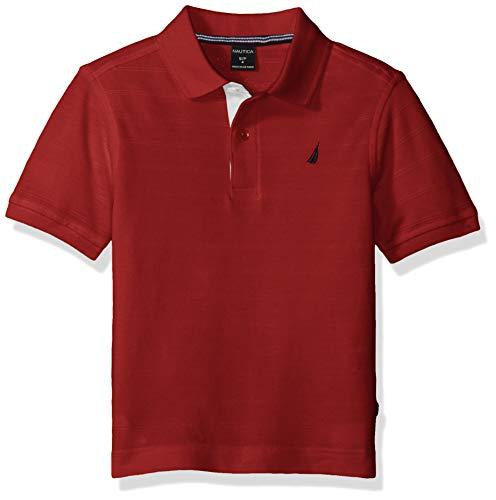 Nautica Boys Short Sleeve Tonal Stripe Deck Polo Shirt