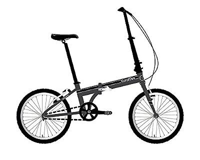 "EuroMini Urbano 24lb Lightest Aluminum Frame Genuine Shimano 8-speed 20"" folding bike"