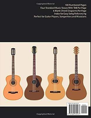 Blank Guitar Sheet Music With TAB & Chords: Guitar Tab Notebook ...