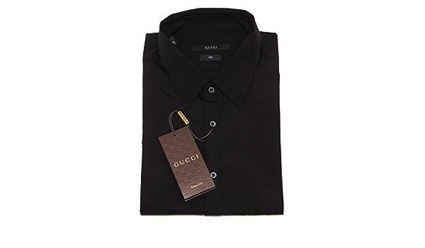 4203o Camisa Manga Larga Gucci negro bata hombre Shirts Men ...