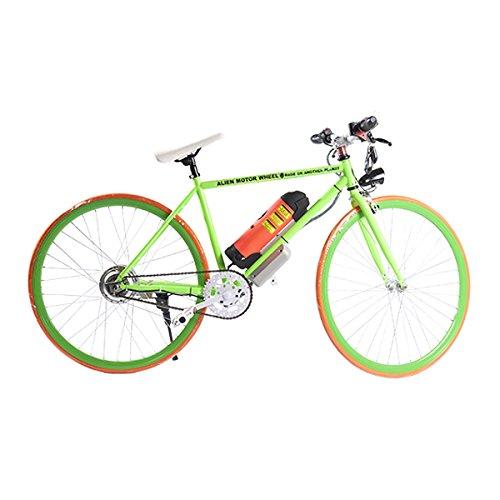 ELECTRIC Fixie Bike 350W 33MPH Alien Motor Wheels TM (GREEN/ORANGE/GREEN/ORANGE)