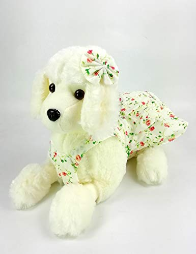 (HOUSESTORAGE Cute Dog Stuffed Animals & Plush Toys Plush Poodle Dog Doll Plush Toys Children Gift Easter Baskets Gifts)
