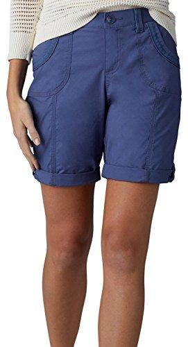 LEE Women's Relaxed Fit Melody Knit Waist Bermuda Short, Indigo Blue, 12 Petite