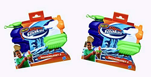NERF Super Soaker Microburst 2 - 2 Pack Bundle