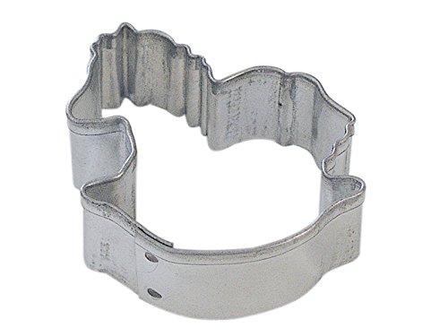 CybrTrayd R&M Rocking Horse Tinplate Steel Cookie Cutter, Mini, Silver, Lot of 12 ()