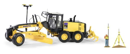 - Komatsu GD655-5 Motor Grader with Ripper and Figure with GPS Base and Rover 1/50 by First Gear 50-3264T