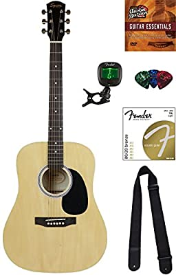 Squier by Fender SA-150 Acoustic Guitar Bundles