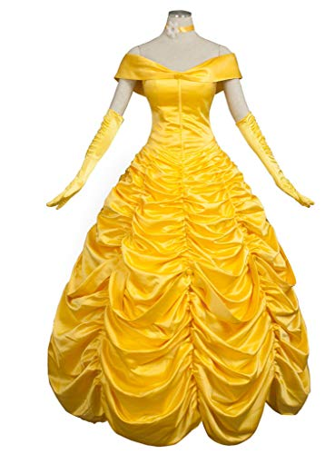 CosFantasy Princess Belle Cosplay Costume Ball Gown Fancy Dress mp002019 (Women M) -