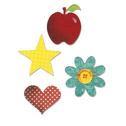 (Sizzix A10598 Bigz Die, Apple, Flower, Heart &)