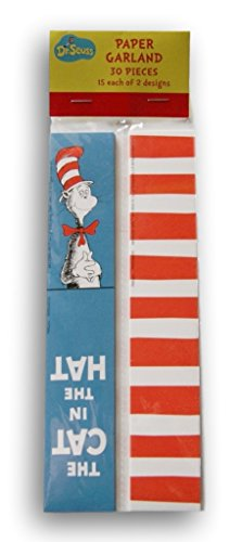 Cat in the Hat Paper Garland (Party City Dr Seuss Hat)