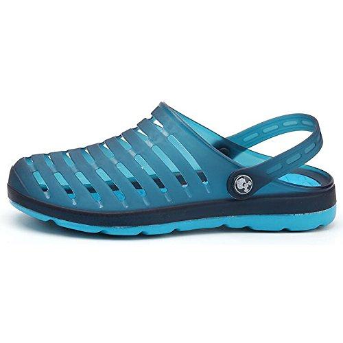 Eastlion Summer Couples Sandals Jelly Beach Sandals Breathable Hole Shoes Dark Blue WEBKnbRTAf