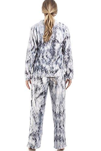 Camille - Pijama para mujer - Estampado de gato - Gris claro Gris