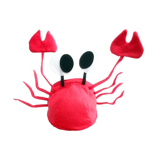 Jesse Christmas Halloween Red Lobster Crab Hat for Adults,Halloween Cosplay Costume Party Props -