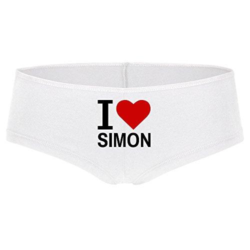 Panty Classic I Love Simon weiß Damen Gr. S bis XL