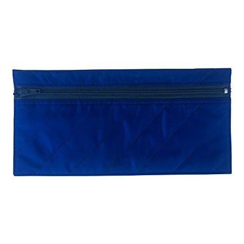 Two Pack Of Budgeting Envelopes, Zippered Wallet, Reusable Spending Allowance Cash Envelope System, Nylon Organizer Bag (Dark Blue) - Zipper Cash Envelopes