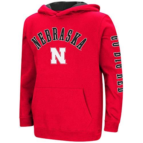 Boys-Crunch Time-Hoody Pullover-Nebraska Cornhuskers-Scarlet-Youth Medium ()