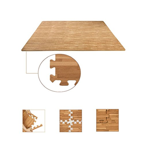 Interlocking Wood Effect Mats Eva Soft Foam Exercise Floor Gym Office Mat Puzzle by unbrand (Image #2)