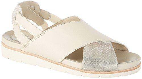 Earthies Women's Santorini Slingback,Off White Soft Leather,US 8.5 M ()