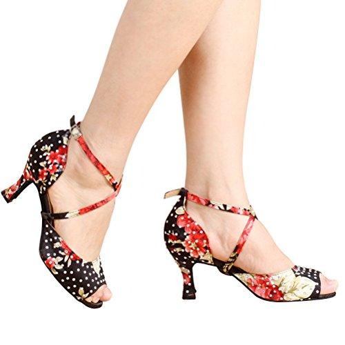 Bcln Donna Open Toe Sandali Tacchi Latino Salsa Tango Pratica Scarpe Da Ballo Con Tacco 2,75