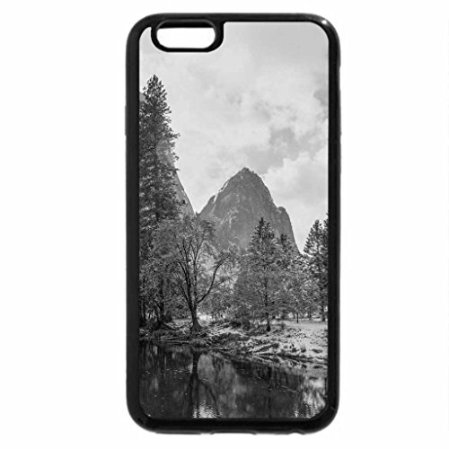 iPhone 6S Case, iPhone 6 Case (Black & White) - beautiful yosemite river in late autumn