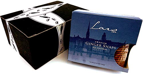 Lars' Own Swedish Ginger Snaps, 10.6 oz Package in a BlackTie Box