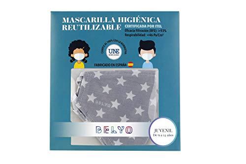 """41pb1ivI6cL Mascarilla higiénica reutilizable certificada y homologada con normativa UNE0065:2020. Certificada por ITEL (Instituto Técnico Español de Limpieza). Eficacia de filtración >93% (""""Ensayo BFE"""") y de Respirabilidad >46 Pa/cm2 (Presión diferencial). Tejido hidrofobo y anti bacteriano. Mascarilla compuesta en un 65% algodon, 35% polyester, lavable (hasta 20 lavados a 60 grados con jabon neutro), cómoda y segura"""