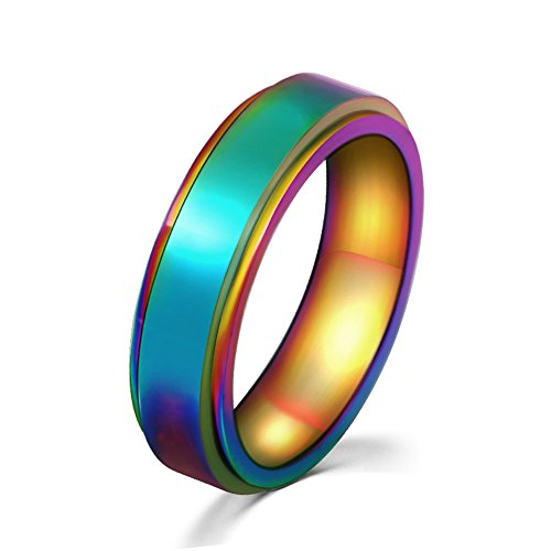 gay pride spinner ring
