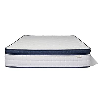 Brentwood Home Del Mar Wrapped Innerspring Mattress, Made in California