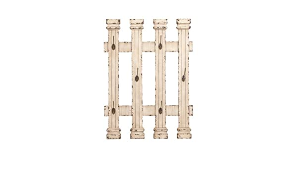 Deco 79 Wooden and Metal Contemporary Wall Hooks with Functional Design Benzara 34866