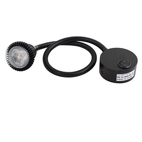 eDealMax AC85-265V 31W 6000K 50CM Flessibile LED Spot Light Lamp w Interruttore nero